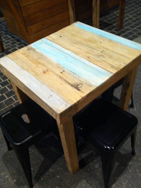 Pallet Timber Cafe Table Top And Complete Tablesates Barn Door