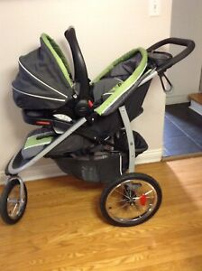 Graco jogger stroller with infant car seat $400 OBO