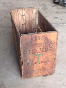 Texaco wooden crates , Castrol sign , Wakefield pump for hi boy Tumut Tumut Area Preview