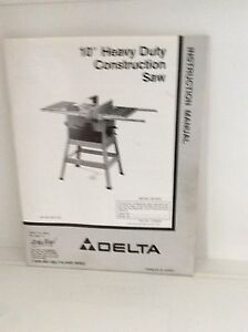 Delta Heavy Duty Construction Saw