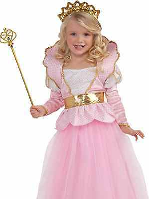 Girls Disney Pink Deluxe Sparkle Princess Queen Dress Costume - Toddler 2-4 -