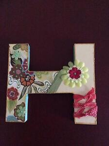 Decorative letters for girls room H,I,J or V Brookwater Ipswich City Preview