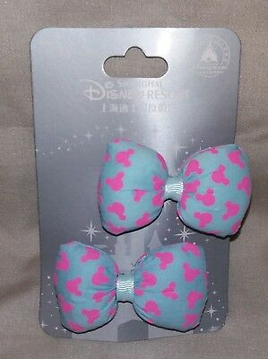 DISNEY Parks Resort MICKEY Heads MINNIE MOUSE Puffy Hair Bow Clips ~ - Minnie Mouse Hair Clips