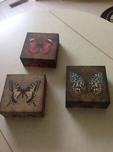 3 butterfly decorations
