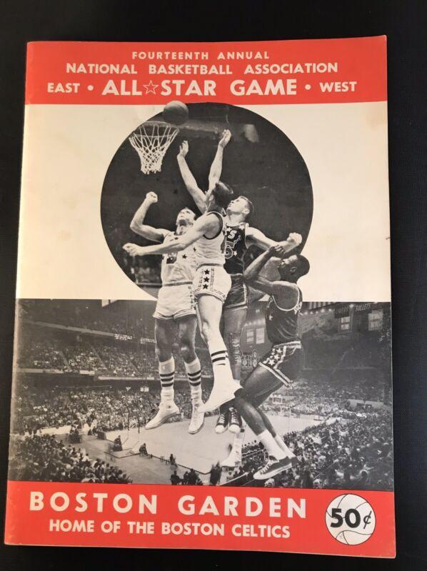 1964 NBA all star game program Boston Garden/players Strike/Oscar Robertson MVP