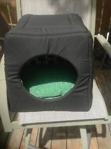 Cat house from IKEA with pillow