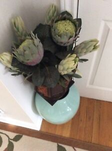 Flowers and vase for sale $30