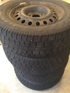"""17"""" Snow Tires and Rims, 235/65R17"""