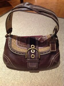 Coach Soho Stitched Leather Flap Bag