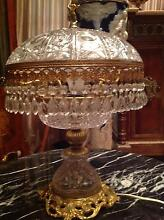 Antique, vintage French crystal dome lamp Edithvale Kingston Area Preview