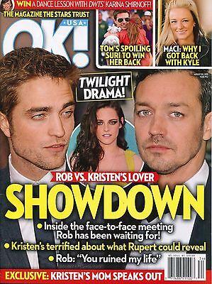 Robert Pattinson Kristen Stewart Ok  Magazine August 20  2012 8 20 12 B 1 1