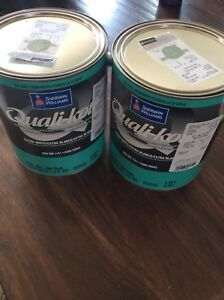 2 new cans of Sherwin William Quali-kote interior paint
