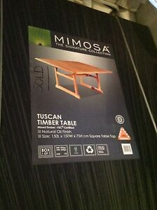 Mimosa  Tuscan Timber Table Bethania Logan Area Preview