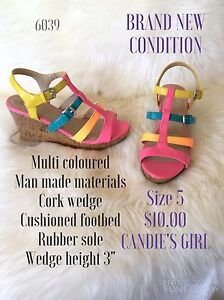 Size 5 and 5.5 candie's girl wedge and more