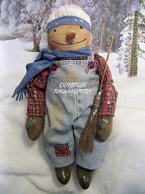 PATTERN, Primitive doll,Snowman 20 in.original by Dumplinragamuffin