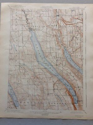 USGS Antique Topographic Map, Skaneateles, NY 1902, Reprinted 1942