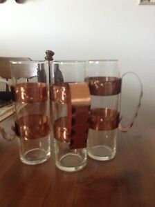 Vintage  copper wrought Fantusy  glasses