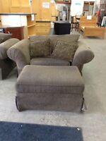 Big Comfy Chair with Ottoman at Waterloo ReStore