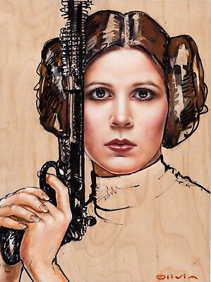 Carrie Fisher As  Princess  Leia   Star Wars  Poster  Art Olivia  Unique    5 99