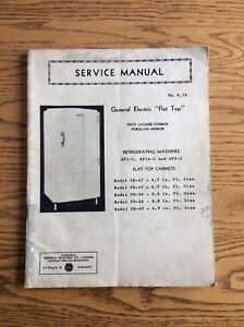 1934-40's 50 page original issue GE refrigerator repair manual
