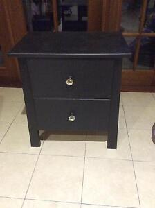 Black bedside table with bling handles Mermaid Waters Gold Coast City Preview