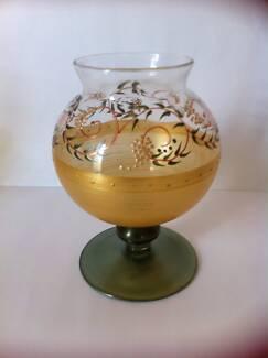 FINE GLASS HANDPAINTED GOBLET