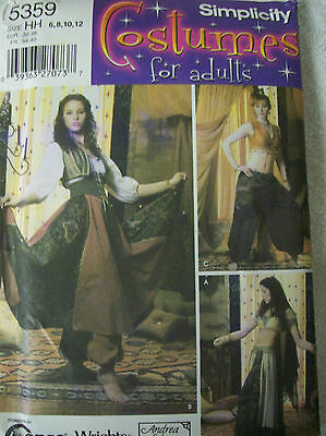 Simplicity Pattern 5359 Costume: Medieval- Renaissance- Gypsy- Belly Dancer NEW](Renaissance Belly Dancer Costume)