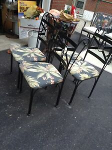 4 metal dining chairs