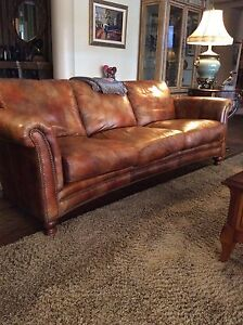 Leather Couch sofa & chairs