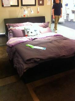 Perfect Condition Oppdal Bed Frame & Bed Head both with storage Clayton Monash Area Preview