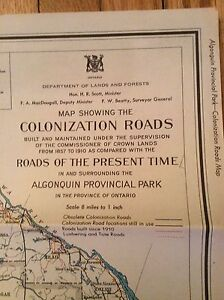 Old Maps of Algonquin Park & Ontario London Ontario image 3
