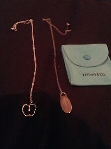 AUTHENTIC TIFFANY APPLE AND TAG NECKLACE