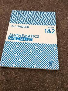 Maths Specialist Units 1&2 by AJ Sadler Mount Claremont Nedlands Area Preview