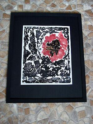 Collage Abstrakte Kunst Blume Handarbeit Unikat 53 x 43 cm