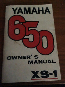 1970 Yamaha XS1 650 Owner's Manual