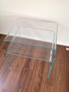 Set of Nested Glass Tables Concord Canada Bay Area Preview