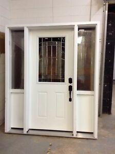 White exterior door