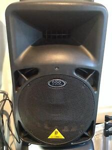 2 x Beringher  Self a Powered Speakers 600 Watts each Manunda Cairns City Preview