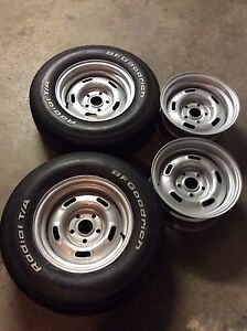 14 inch 5 slot a Ford steel rally wheels