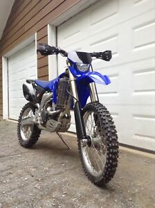 2008 wr450f with street title for sale. (Blue plate)