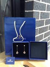 Authentic Swarovski earrings in gold with crystals NEW** Carlingford The Hills District Preview