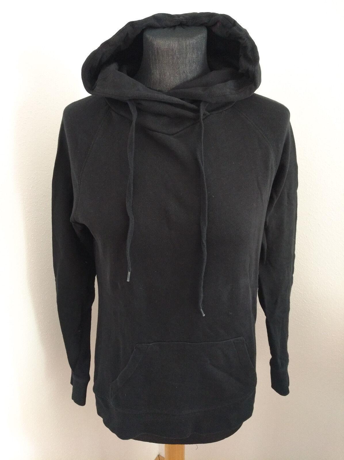Damen Kapuzenpullover schwarz einfarbig Größe M C&A
