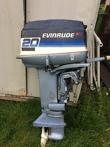 Evinrude 20hp outboard short shaft with donor motor