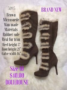 Size 10 dollhouse heeled boots