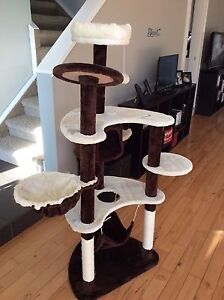 New cat tree , condo, and scratching post