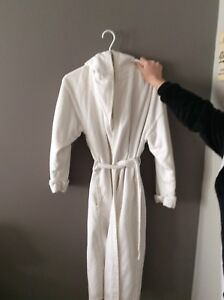 Ladies Small White Hooded Robe