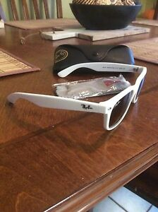 White Ray Bans for sale