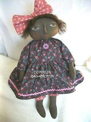by,Dumplinragamuffin,#212 Primitive doll,Halloween,black pumpkin doll PATTERN