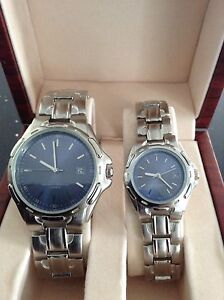 Matching set of man and woman' watches