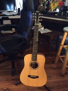 Taylor baby acoustic guitar with case